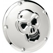 3-d skull derby cover chrome 5-hole - Drag specialties 33-0062-PC