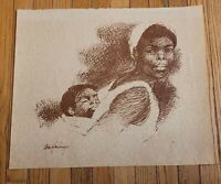 African - American Artist TOM FEELINGS PRINT PORTRAITS ON PAPER ORIGINAL