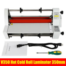 V350 350mm Hot Cold Roll Laminator Digital Single Dual Sided Laminating