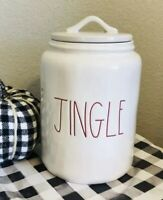 Rae Dunn White Large JINGLE Canister  RED LL * FREE SHIPPING*