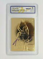 KOBE BRYANT ROOKIE RC CARD 23K GOLD AUTO LA Lakers Graded GEM Mint 10 Rare!