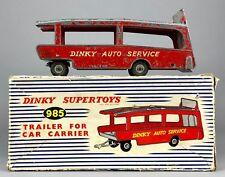 DINKY SUPERTOYS-RIMORCHIO PER AUTO PORTANTE N. 985-Vintage Transporter Camion in Scatola