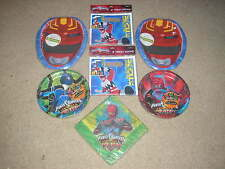 Brand New Power Rangers Party Supplies Plates Napkins Goody Bags Set for 16