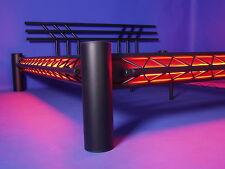 BLACK-METALL NEONBETT Gothic Metallbett Stahlbett Mod. 3P-SW 160x200 rot