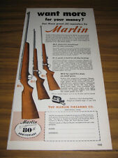 1950 Vintage Ad Marlin .22 Repeaters Rifles Models 88-C, 81-C, 80-C