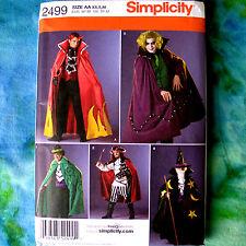 Simplicity 2499 Teen's Cape Costume Sewing Pattern Wizard Pirate XS-M new uncut