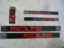 REDLINE DECALS  ST-20 SERIES THREE bmx cruiser freestyle VINTAGE NOS 3