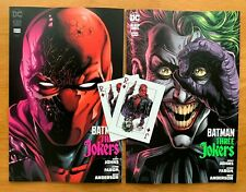 BATMAN: THREE JOKERS #3  Jason Fabok Main + B Variant Set DC 2020 NM + 2 Cards