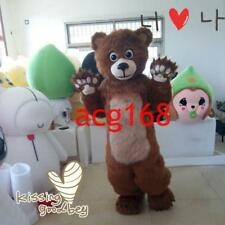 Bear Mascot Costume Fur Cosplay Dress Suit Outfit Party Clothes Parade Christmas