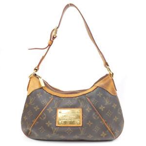 LOUIS VUITTON Thames PM Monogram Shoulder Bag PVC Leather Brown M56384