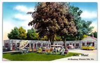 1950s/60s Dells Motel, Wisconsin Dells, WI Postcard