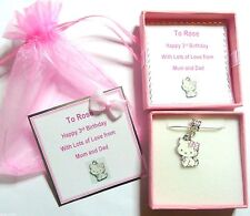 Hello Kitty's Pet Cat Charmmy Charm Necklace Birthday Gift in Personalised Box