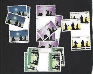 St. Vincent sc#683-6 Single & Gutter x2 (1983) Complete MNH