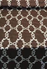 Fabricut Chocolate Spadina Rolling Woven Scrolls Fabric By the Yard