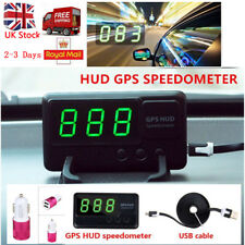 Car Digital GPS Speedometer HUD Head Up MPH/KM/h Plug&Play Overspeed Warning UK