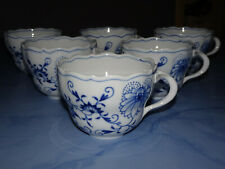 Meissen Zwiebelmuster Porzellan 6 x Kaffeetasse oben Ø 9 cm NEU