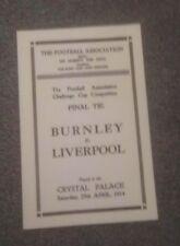 1914 FA CUP FINAL - LIVERPOOL V BURNLEY - COPY-