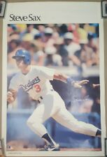 Vintage STEVE SAX Dodgers Sports Illustrated POSTER Los Angeles LA 23 x 35 MLB