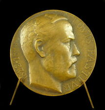 Médaille Scientifique Louis pasteur par Albert Herbemont uniface 48 mm 55g Medal