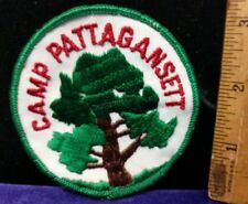 Vintage/Classic Patch, Round Camp Pattagansett, W/ Tree C6-1-UU
