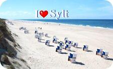 Kühlschrankmagnet,Magnetschild,Magnet- I`Love Sylt I