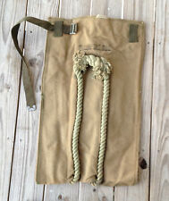 WWII US Army Heavy Duck Canvas Bailey Transport Bag Rope Handles Unissued WW2