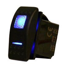 SE Waterproof Rocker Switch 12V 20A On-Off-On 2 Position DPDT 7 Pin 2 Blue LED