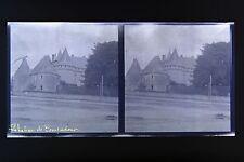 Château de Pompadour Corrèze Auvergne stéréo négatif sur film souple 1914