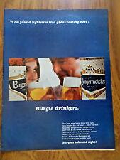 1965 Burgermeister Beer Ad Burgie Drinkers 1965 Volvo Ad Fast Economical Holdup