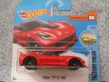 Hot Wheels 2017 #217/365 Corvette C7 Z06 Rojo FACTORY fresca NUEVO Fundición