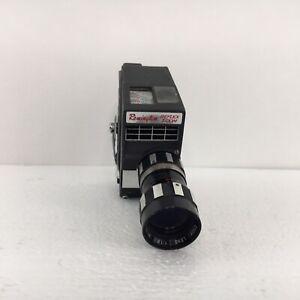 Mansfield Remington Reflex Zoom 8mm Movie Camera Built in Light Meter