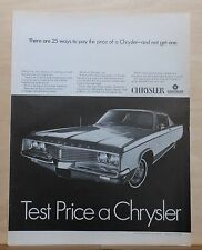1968 magazine ad for Chrysler - Newport 2-door hardtop, 25 ways to pay the price