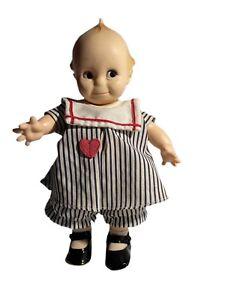 "Kewpie Cupie Cameo Doll 11"" Sailor Dress Original Jesco Vintage Red Heart"