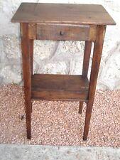 table d'appoint petit bureau en bois avec tiroir  44,5 X 32 cm H.76 cm