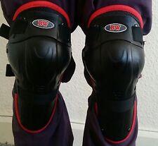 Niños Moto Motocross Protección Con Bisagras Rodilleras Almohadillas Gear Rojo/Negro