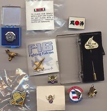 Lot Aviation USAF Aircraft Airplane Lapel Pins B-2 F-16 Fighting Falcon AFA Kaze