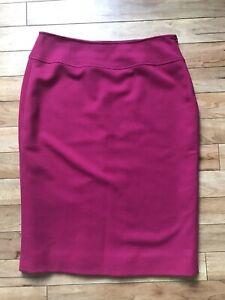 Hobbs Bright Fuchsia Pink Wool Skirt UK14