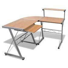 Tavolo ufficio Scrivania angolare Computer tastiera Estraibile cassetti Marrone