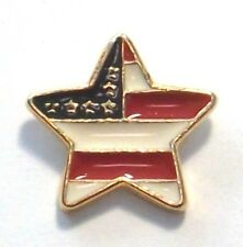 New listing Usa American Star Flag Lapel, Hat, Tie Pin in Gold Plate Made in Usa by Osc New