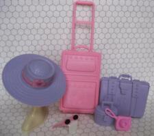 Barbie doll Plane/CRUISE Ship/Travel Agency/Hotel Luggage Suitcase Hat CAMERA