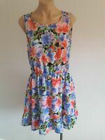 EUC size 12 WISH floral dress. Frill hem elastic cinch waist