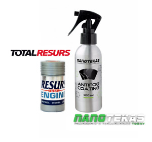 RESURS Total Nano Engine Oil Additive engine Restorer & nano ANTI FOG Protection