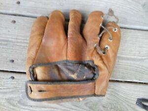 Antique 1930-40s Baseball Glove Goldsmith Cubs Pitcher Claude Passeau