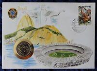 Numisbrief - Brasilien / Brasil - mit 50 Cruzeiros Münze - 1984 - + Briefmarke