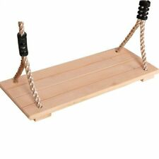 Outdoor Wooden Swing Garden Ropes Adults Children Swing Four Board Antiseptic