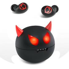 Bluetooth 5.0 Earbuds Headset Wireless TWS Touch Stereo Cute Little Devil in-Ear