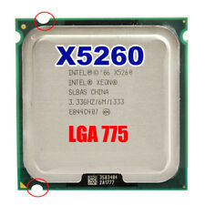 Intel Xeon X5260 3.33GHz/6M/1333 LGA775 Dual Core CPU(Equal to Core 2 Duo e8600)