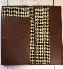 Cutter & Buck Leather Passport Wallet Holder Organizer. Brown Leather