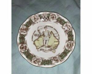 1956 OLYMPIC GAMES MELBOURNE ORIGINAL Roslyn England Porcelain Saucer Plate RARE