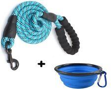 1 LAISSE CHIEN corde nylon BLEU solide + 1 bol gamelle pliable randonnée offert!